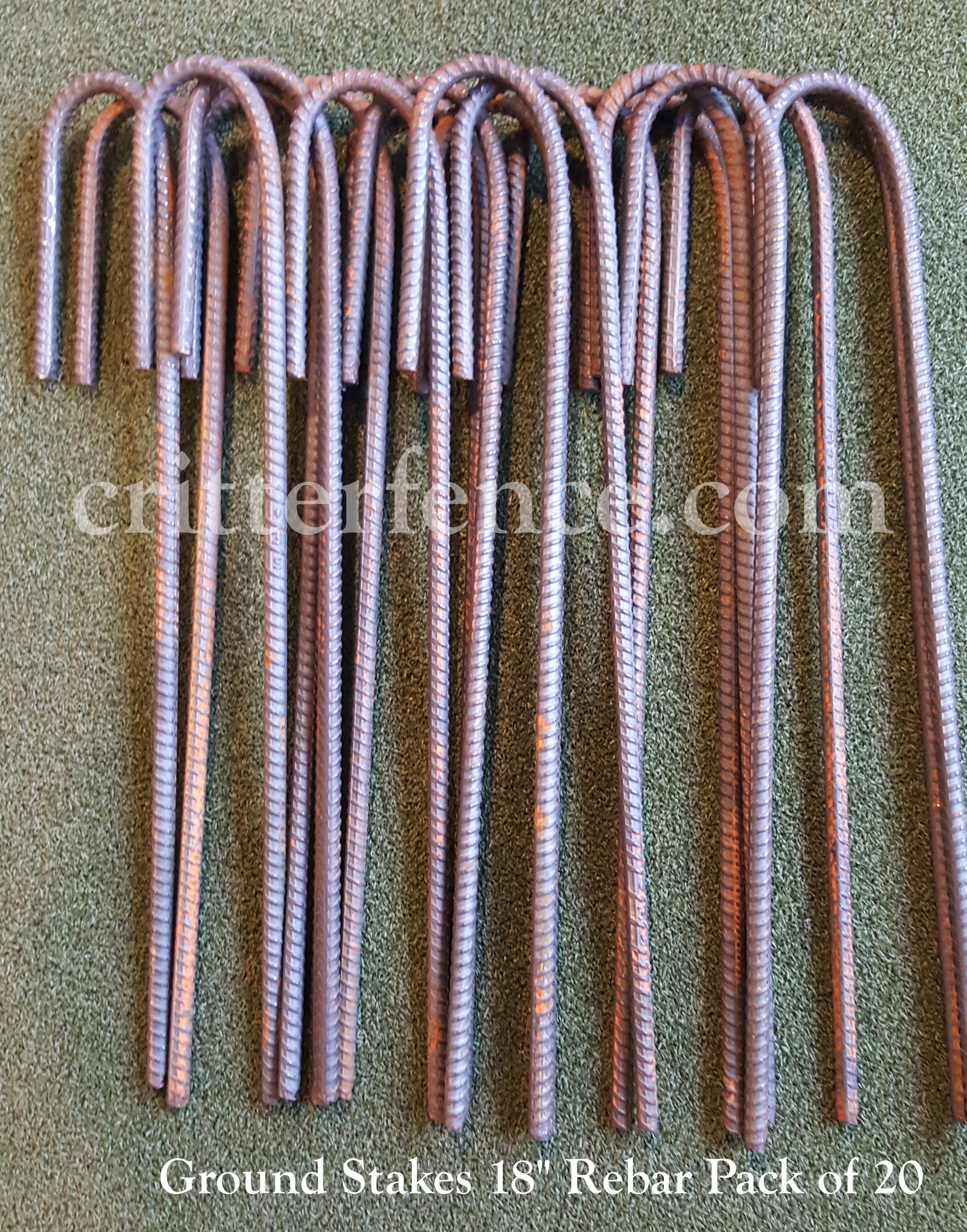 Heavy Duty Rebar : Ground stakes quot rebar pack bundle