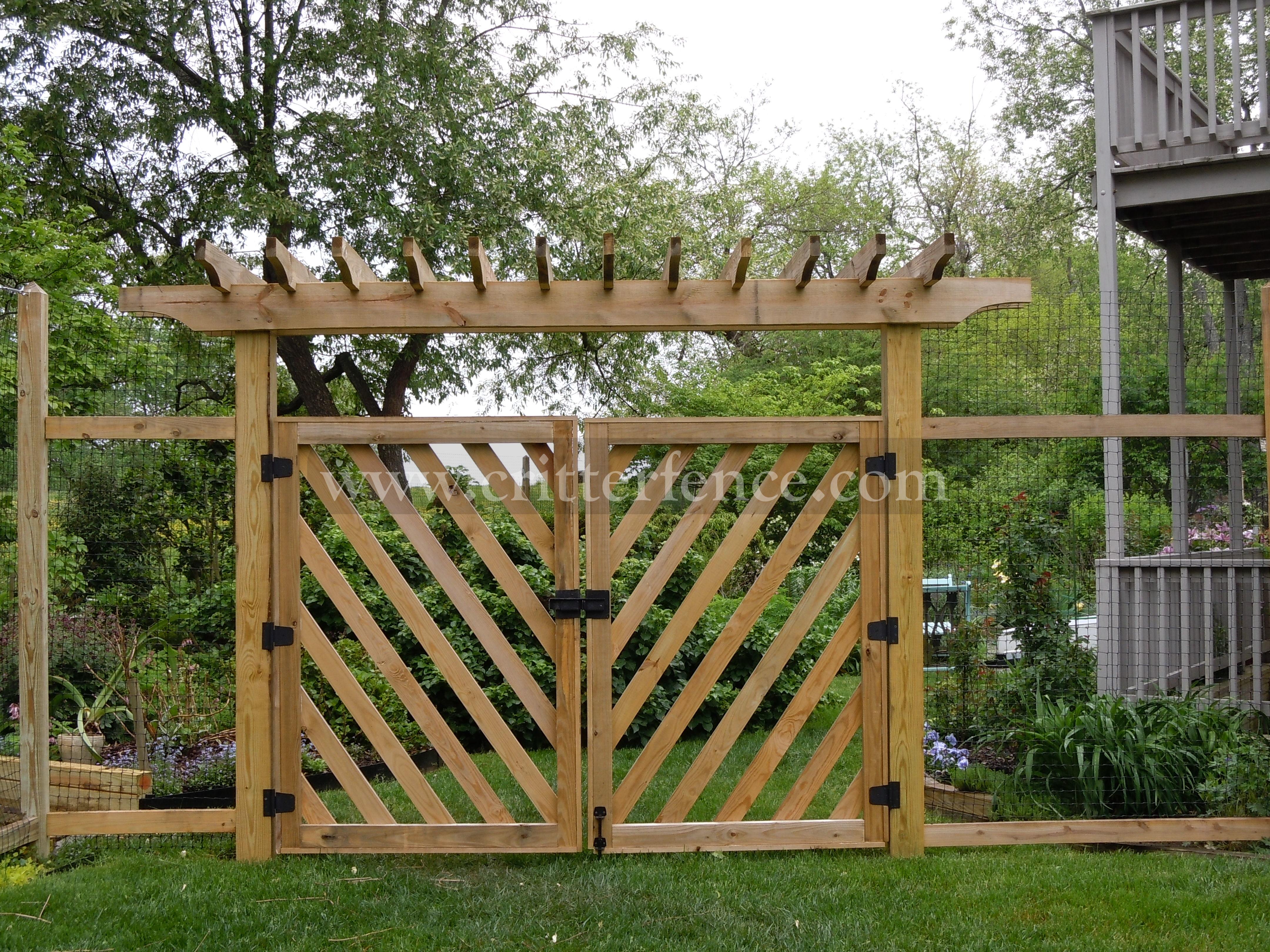 Nice wood framing and gates using Critterfence 1100 Maryland