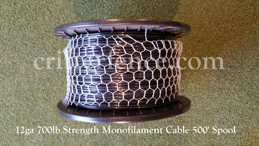 12 ga 700lb strength monofilment cable 500 spool