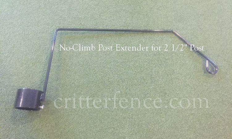 "No-climb post extender for 2 1/2"" post"