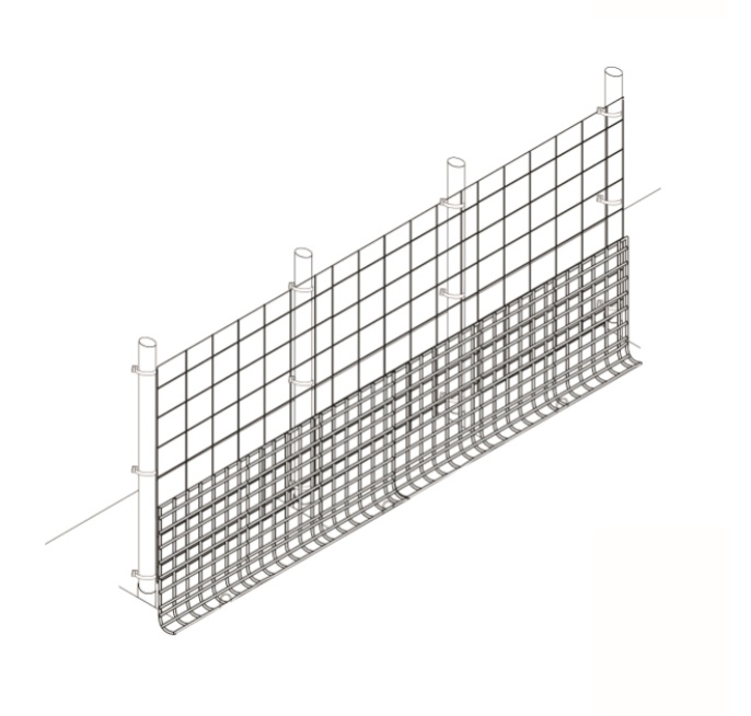 Garden fence with rodent barrier