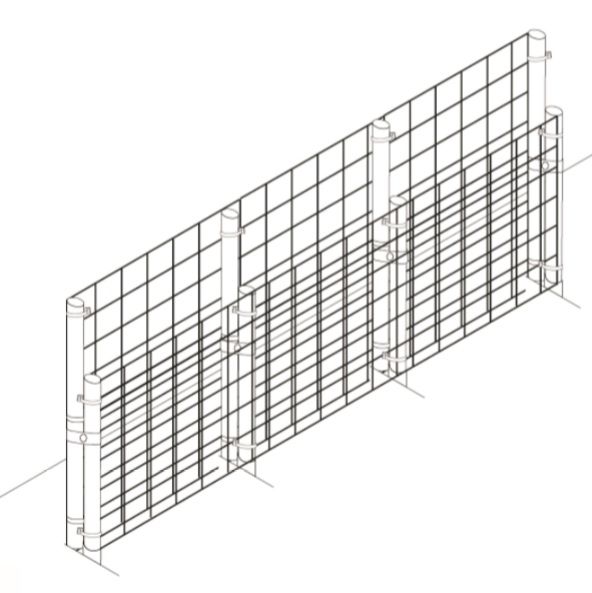 Garden fencing retrofit kits