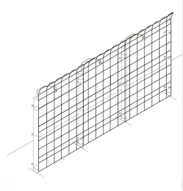 Garden fencing no climb post extenders