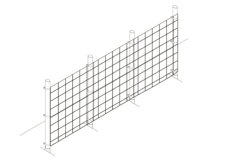 Garden fence no overlap