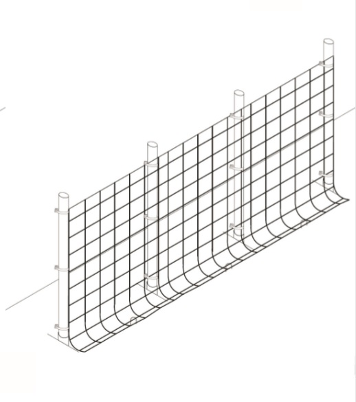 Garden fence with overlap steel