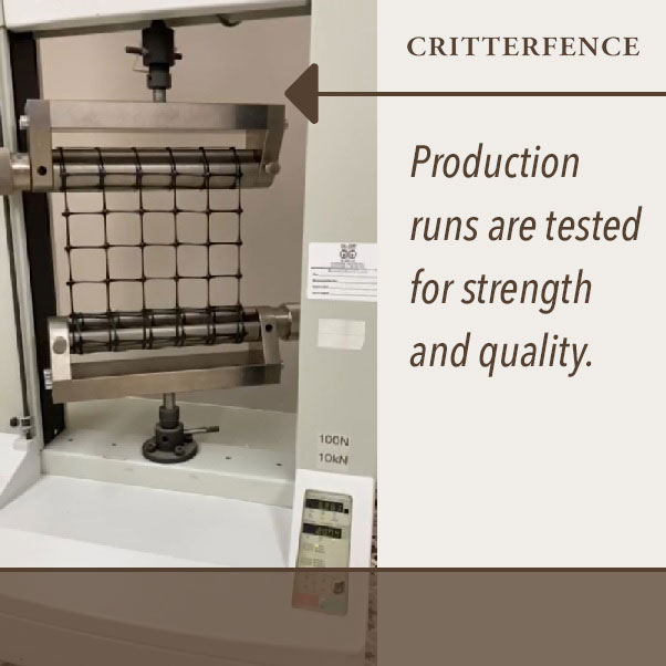 Production runs are tested for strength and quality
