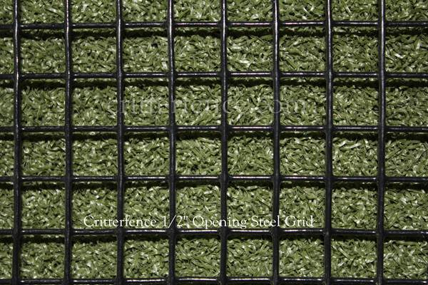 Critterfence Black Steel 1/2 Inch Square Grid 5 x 100 PALLET OF 16 NEW - 685248510421p