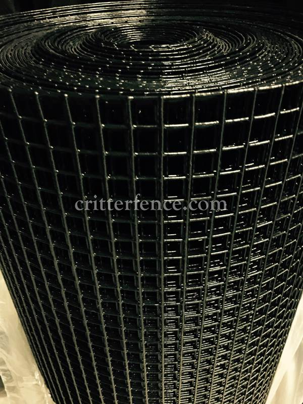 Critterfence Black Steel 1/2 Inch Square Grid 4 x 100 - 852674936624