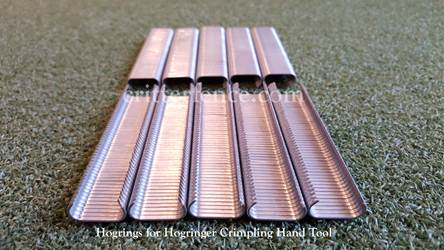 Hogrings for hogringer hand tool 9/16 galvanized