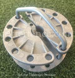 In-Line Tightener/Strainer for Sleeve Crimping System
