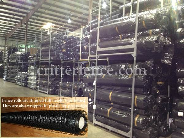 Critterfence 700 is shipped in full length rolls