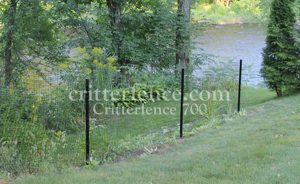 Critterfence 700 poly fencing is easily removable