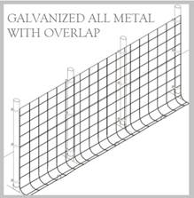 Fence Kit O49g2 (5 x 100 All Metal GALV 2.0 Grid) NEW
