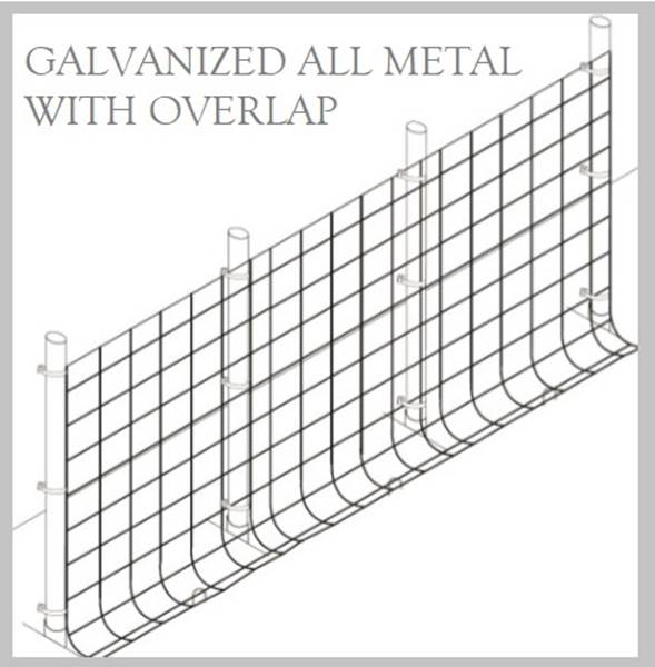 Fence Kit O49g (5 x 100 All Metal GALV 1.0 Grid) NEW - 685248509364g