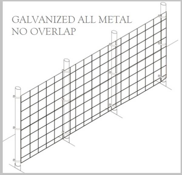 Fence Kit 39g (8 x 100 All Metal GALV 1.0 Grid) NEW - 685248509401g