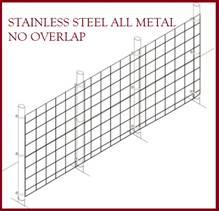 Fence Kit 40s (6 x 100 All Metal STAINLESS 1.5 Grid) NEW