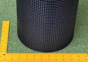 Critterfence Black Steel 1/4 Inch Square Grid 2 x 50 Critterfence Black Steel 1/4 Inch Square Grid 2 x 50 Hardware Cloth