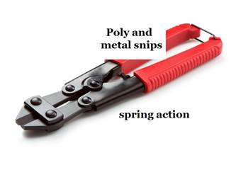 Combination Poly and Metal Fence Snips Combination Poly and Metal Fence Snips